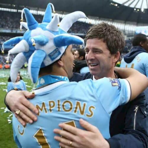 Liam y Noel Gallagher despidieron al Kun Agüero